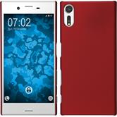 Hardcase Xperia XZs rubberized red