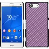 Hardcase Xperia Z3 Compact Carbonoptik pink