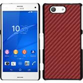 Hardcase Xperia Z3 Compact Carbonoptik rot