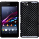 Hardcase for Sony Xperia Z1 Compact carbon optics black