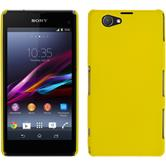 Hardcase Xperia Z1 Compact gummiert gelb