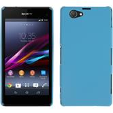 Hardcase for Sony Xperia Z1 Compact rubberized light blue