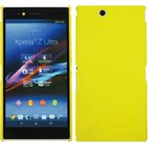 Hardcase for Sony Xperia Z Ultra rubberized yellow