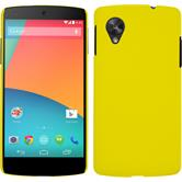 Hardcase for Google Nexus 5 rubberized yellow