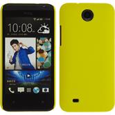 Hardcase for HTC Desire 300 rubberized yellow