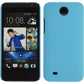 Hardcase for HTC Desire 300 rubberized light blue