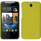 Hardcase for HTC Desire 310 rubberized yellow