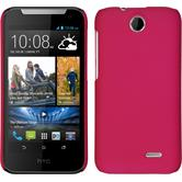 Hardcase for HTC Desire 310 rubberized hot pink