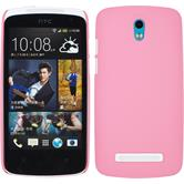 Hardcase for HTC Desire 500 rubberized hot pink