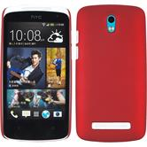 Hardcase for HTC Desire 500 rubberized red