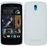 Hardcase for HTC Desire 500 rubberized white