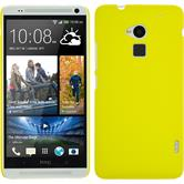 Hardcase for HTC One Max rubberized yellow