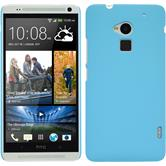Hardcase for HTC One Max rubberized light blue