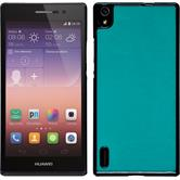 Hardcase for Huawei Ascend P7 leather optics blue