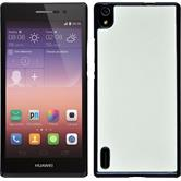 Hardcase for Huawei Ascend P7 leather optics white