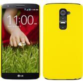 Hardcase für LG G2 gummiert gelb