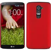 Hardcase for LG G2 rubberized red