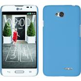 Hardcase for LG L70 rubberized light blue