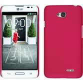 Hardcase for LG L70 rubberized hot pink