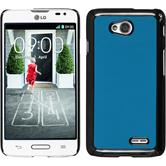 Hardcase for LG L70 leather optics blue