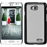 Hardcase for LG L70 leather optics white