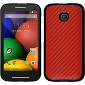 Hardcase for Motorola Moto E carbon optics red