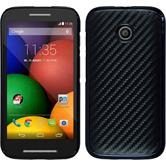 Hardcase for Motorola Moto E carbon optics black