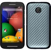 Hardcase for Motorola Moto E carbon optics silver