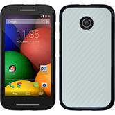 Hardcase for Motorola Moto E carbon optics white