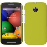 Hardcase for Motorola Moto E rubberized yellow