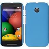 Hardcase for Motorola Moto E rubberized light blue
