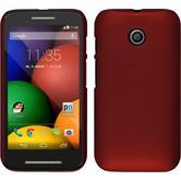 Hardcase for Motorola Moto E rubberized red