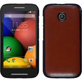 Hardcase for Motorola Moto E leather optics brown