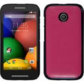 Hardcase for Motorola Moto E leather optics hot pink