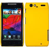 Hardcase for Motorola Razr rubberized yellow