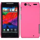 Hardcase for Motorola Razr rubberized pink