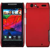 Hardcase for Motorola Razr rubberized red
