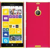 Hardcase for Nokia Lumia 1520 rubberized hot pink