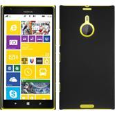 Hardcase Nokia Lumia 1520 gummiert schwarz + 2 Schutzfolien