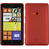 Hardcase Nokia Lumia 625 gummiert rot + 2 Schutzfolien
