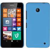 Hardcase for Nokia Lumia 630 rubberized light blue