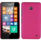 Hardcase Nokia Lumia 630 gummiert pink + 2 Schutzfolien