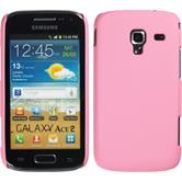Hardcase for Samsung Galaxy Ace 2 rubberized pink