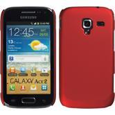 Hardcase Galaxy Ace 2 gummiert rot + 2 Schutzfolien