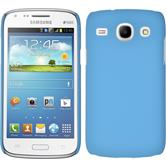 Hardcase for Samsung Galaxy Core rubberized light blue