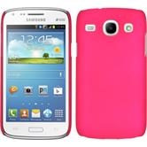 Hardcase for Samsung Galaxy Core rubberized hot pink