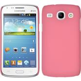 Hardcase for Samsung Galaxy Core rubberized pink