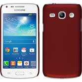 Hardcase Galaxy Core Plus gummiert rot