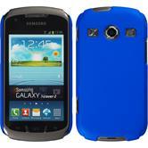 Hardcase Galaxy Xcover 2 gummiert blau