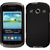 Hardcase Galaxy Xcover 2 gummiert schwarz + 2 Schutzfolien
